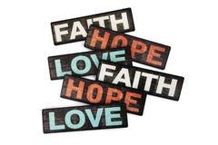 Esperanza y amor de la fe Imagen de archivo