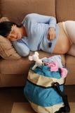 Esperar el nacimiento. fotografía de archivo