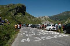 Esperar el Tour de France Fotos de archivo libres de regalías