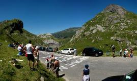 Esperar el Tour de France Imagenes de archivo