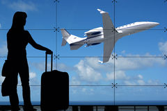Esperar el vuelo Imagen de archivo libre de regalías