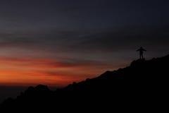 Esperar la salida del sol Fotos de archivo libres de regalías