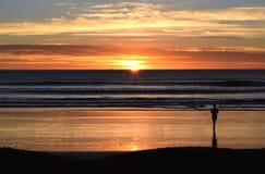 Esperar la salida del sol Imagen de archivo libre de regalías