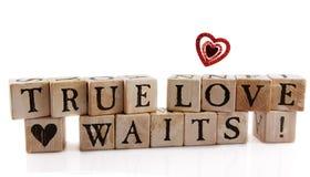 Esperas verdaderas del amor Imágenes de archivo libres de regalías