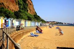 Espere a praia, Shanklin, ilha do Wight Fotos de Stock Royalty Free