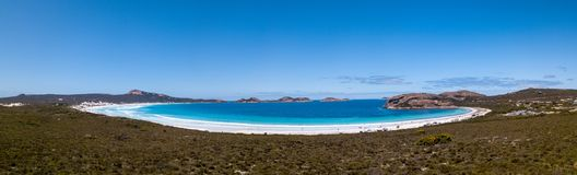 Aerial shot of Lucy Bay beach, Cape Le Grand National Park, Western Australia royalty free stock image