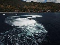 Esperienza con velocità sul mare fotografia stock