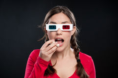 esperienza del cinematografo 3D Immagini Stock Libere da Diritti