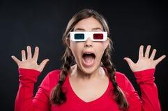 esperienza del cinematografo 3D Fotografie Stock Libere da Diritti
