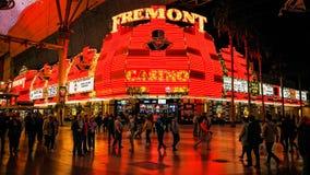 Esperienza della via di Freemont a Las Vegas Fotografie Stock