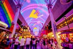 Esperienza della via di Fremont a Las Vegas Immagini Stock Libere da Diritti