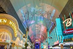 Esperienza della via di Las Vegas, Fremont Fotografia Stock Libera da Diritti