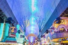 Esperienza della via di Las Vegas, Fremont Fotografia Stock