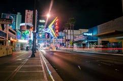 Esperienza di Freemont, Las Vegas, vita notturna, Fotografie Stock