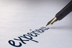 Esperienza di scrittura della penna stilografica Immagine Stock