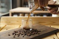 Esperienza gastronomica di barista e del caffè immagini stock libere da diritti