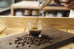 Esperienza gastronomica di barista e del caffè fotografia stock libera da diritti