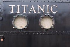 Esperienza titanica Cobh, un'attrazione di tema nella precedente linea bianca biglietteria della stella immagini stock