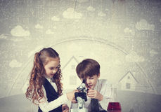 Esperimenti in laboratorio Fotografia Stock