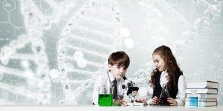 Esperimenti in laboratorio Immagini Stock