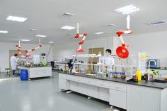 Esperimento del laboratorio Immagini Stock