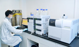 Esperimento del laboratorio Fotografia Stock