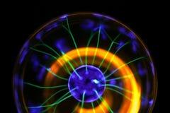 Esperimento della lampada del plasma immagini stock libere da diritti
