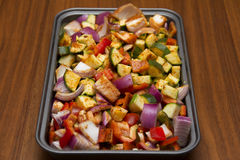 Esperte verdure fresche per arrostire Immagini Stock