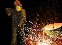 Esperto di metallurgia Immagine Stock Libera da Diritti