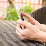 Esperto-telefone à disposicão Imagem de Stock