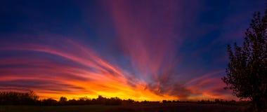 Espetáculo do por do sol Fotos de Stock Royalty Free