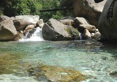 Espetáculo do rio e das rochas Imagens de Stock