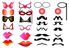 Espetáculos do bigode Fotografia de Stock Royalty Free