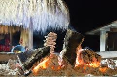 Espeto DE sardinas is een schotel typisch van de keuken van Malaga, die Royalty-vrije Stock Afbeeldingen