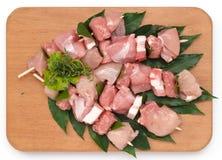 Espetos da carne de porco Foto de Stock