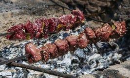Espetos de Espetada tradicional a Dinamarca Madeira Fotografia de Stock