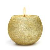 espheric χρυσός κεριών Στοκ Φωτογραφία