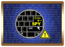 Espião do computador do cuidado Fotografia de Stock Royalty Free