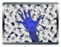 Espião do email Imagem de Stock Royalty Free