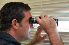Espião do homem Imagem de Stock Royalty Free