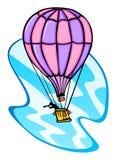Espião em um balão que recolhe a inteligência fotos de stock royalty free