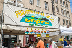 Espi Filipino food stand at the Dragon Festival Stock Images