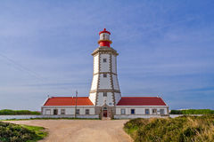 The Espichel Cape lighthouse. Built during the 18th century is one of the oldest lighthouses in Portugal and guides boats and ships navigating in the Atlantic Royalty Free Stock Photos