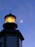 Espichel Lighthouse at dusk. Sesimbra, Portugal Royalty Free Stock Photo