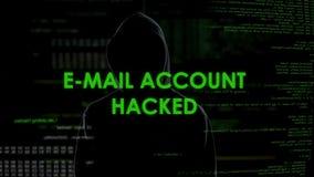 Espie em incógnito o corte das contas de email, cyberattack na privacidade, enviando o Spam filme