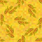 Espigas de milho maduras alaranjadas, teste padrão sem emenda do vetor Foto de Stock Royalty Free