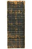 Espina dorsal 1868 de la biblia del Victorian aislada sobre blanco. Imágenes de archivo libres de regalías