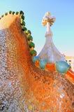 Espina dorsal del dragón de Gaudi (casa Batllo) fotografía de archivo libre de regalías