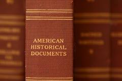 Espina dorsal del libro de historia Imagen de archivo libre de regalías