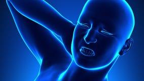 Espina dorsal lastimada - espina dorsal lastimada del varón stock de ilustración
